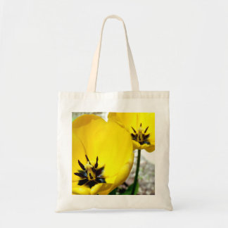 Yellow Tulip Budget Tote Bag