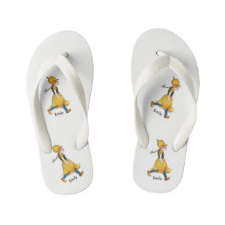 Yellow Tulip Cute Flower Child Floral Funny Girl Kid's Thongs