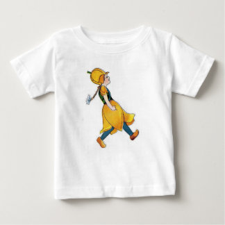 Yellow Tulip Cute Flower Child Floral Vintage Girl Baby T-Shirt