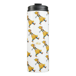 Yellow Tulip Cute Flower Child Floral Vintage Thermal Tumbler
