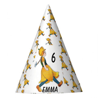 Yellow Tulip Cute Flower Floral Birthday Girl Party Hat