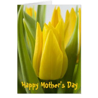 Yellow tulip flower card