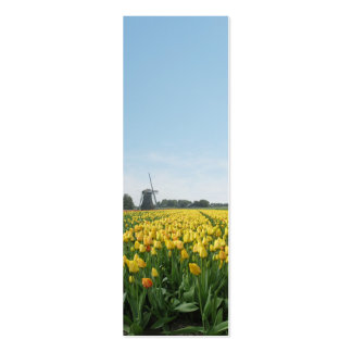 Yellow Tulip Flower Field Windmill Pack Of Skinny Business Cards