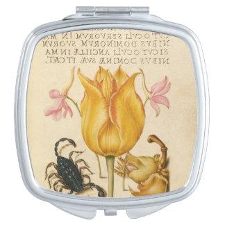yellow tulip scorpio compact mirrors