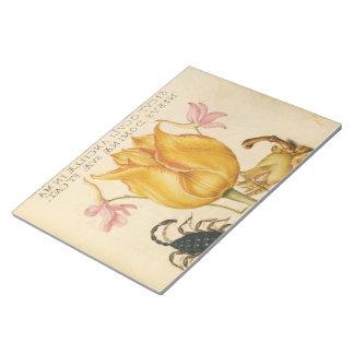 yellow tulip scorpio notepad