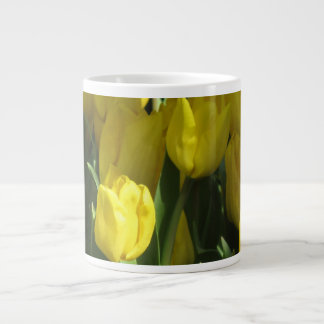 Yellow tulips giant coffee mug