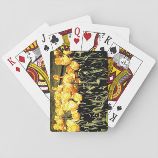 Yellow Tulips Playing Cards