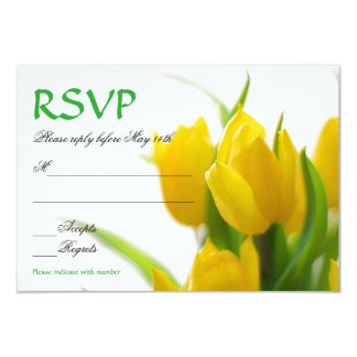 Yellow Tulips - RSVP Card