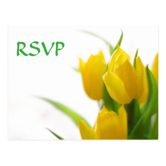 Yellow Tulips - RSVP Post Card