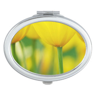 Yellow Tulips with Green Vanity Mirror