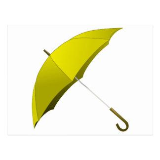 Yellow Umbrella Hong Kong Pro-Democracy Movement Postcard