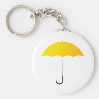 Yellow Umbrella Key Ring