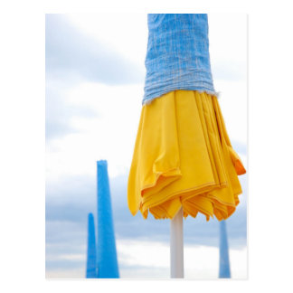 Yellow umbrella postcard