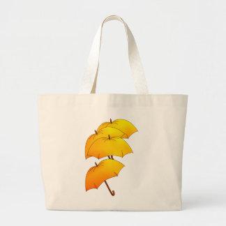 Yellow umbrellas jumbo tote bag