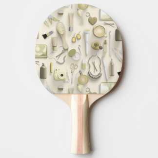 Yellow Vanity Table Ping Pong Paddle