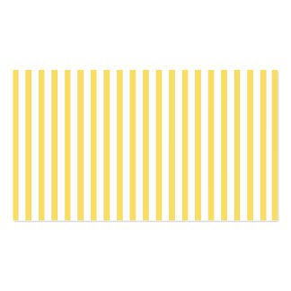 Yellow Vertical Stripes Pack Of Standard Business Cards