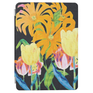 Yellow Vintage Botanical Tulips iPad Air Cover