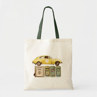 Yellow Vintage Car Tote Bag