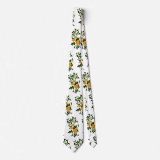 Yellow Vintage Roses Tie