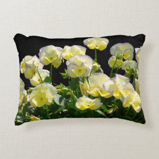 Yellow Violas With Purple Edges Decorative Cushion