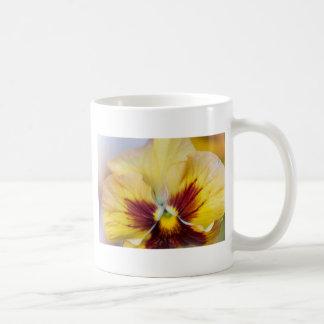 yellow violet basic white mug