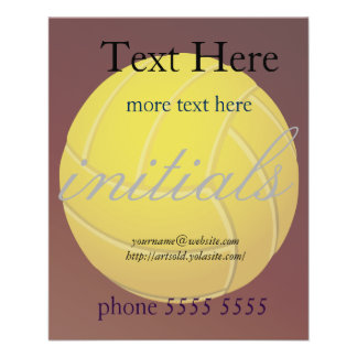 Yellow Volleyball Earthy Red Background 11.5 Cm X 14 Cm Flyer