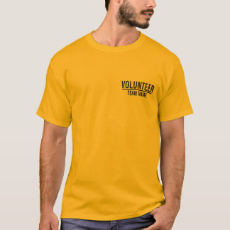 Yellow Volunteer with Custom Team Name T-Shirt