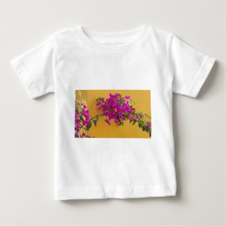 Yellow Wall Pink Flower Arch Sunshine Baby T-Shirt