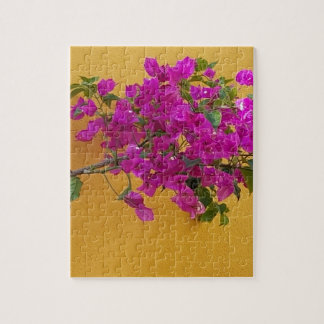 Yellow Wall Pink Flower Arch Sunshine Jigsaw Puzzle