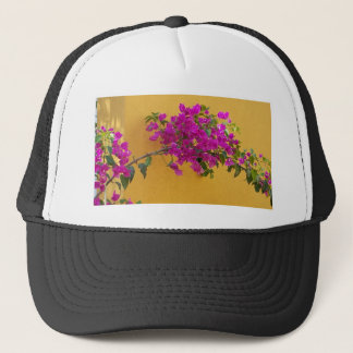 Yellow Wall Pink Flower Arch Sunshine Trucker Hat