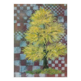 Yellow Walnut Tree Print Photo Art