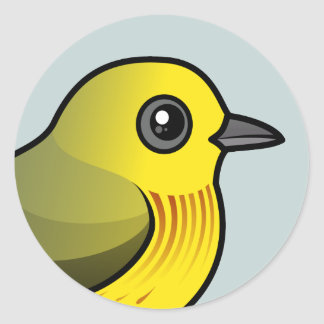 Yellow Warbler Classic Round Sticker