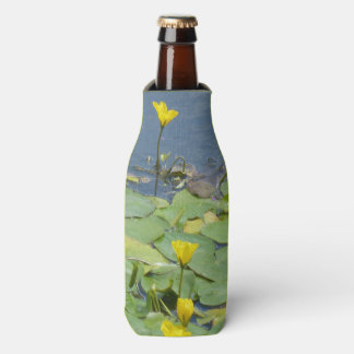 Yellow Water Lilies Bottle Cooler