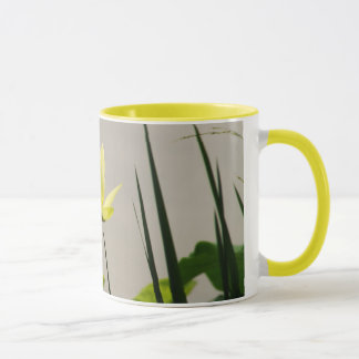 Yellow water lily - yellow ring coffee mug