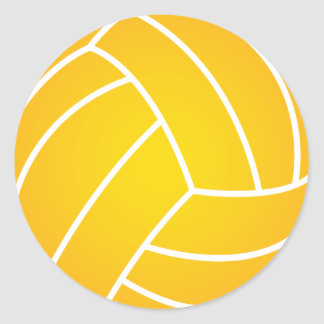 Yellow Water Polo Ball Sticker
