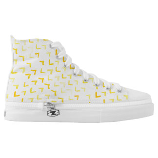Yellow watercolor pattern printed shoes
