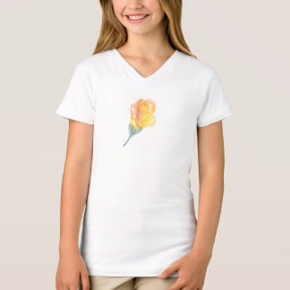Yellow Watercolor Rose Child's Shirt