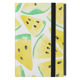 Yellow watermelon slices pattern iPad mini cover