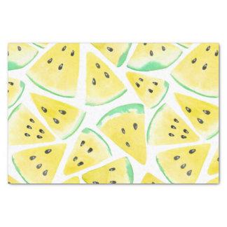 Yellow watermelon slices pattern tissue paper