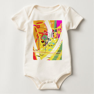 Yellow wave baby bodysuit