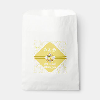 Yellow Wedding Favor Bag w/ White Fonts