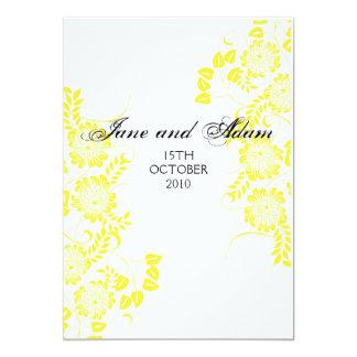 yellow wedding final 13 cm x 18 cm invitation card