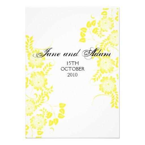 yellow wedding final custom invite