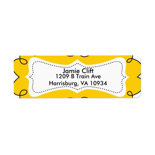 Yellow whimsical Address Labels