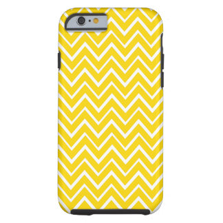 Yellow whimsical chevron zigzag pattern case tough iPhone 6 case
