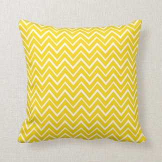 Yellow whimsical zigzag chevron pattern pillow