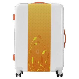Yellow, White and Orange Medium Sized Luggage
