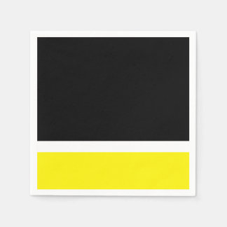 Yellow white black colorblock disposable serviette
