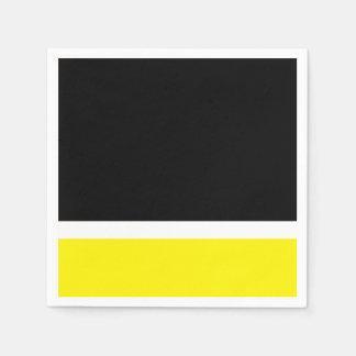 Yellow white black colorblock disposable serviettes