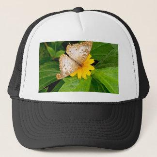 yellow white butterfly moth trucker hat